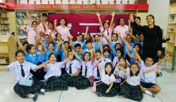 """""""เปิดโลกกิจกรรมห้องสมุดและงานวันภาษาไทย""""โรงเรียนดรุณากาญจนบุรี"""