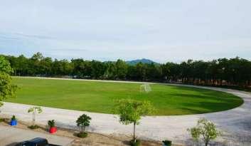 สนามฟุตบอลดรุณากาญจนบุรีพร้อมสู่การจัดการแข่งขันกีฬา