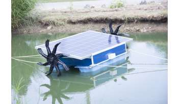 ติดตั้งเครื่องตีน้ำเพิ่มอากาศด้วยพลังงานแสงอาทิตย์