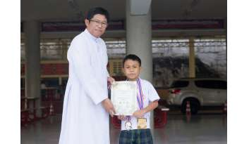 แสดงความยินดีเด็กชายศุภวิชญ์-ถาวร-นักกีฬาเทควันโด