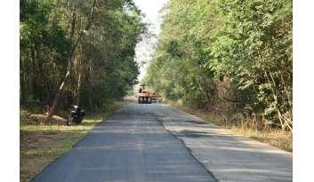 ซ่อมถนนช่วงพระจันทร์เสี้ยวออกด้านถนนบายพาสกาญจนบุรี