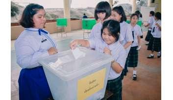 กิจกรรมเลือกตั้งสภานักเรียน-ดรุณากาญจนบุรี