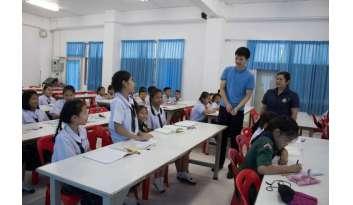 เด็กดรุณากาญจนบุรีเตรียมสอบภาษาจีน-hskและyct