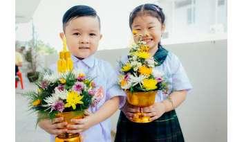 โรงเรียนดรุณากาญจนบุรีจัดกิจกรรมพิธีไหว้ครู