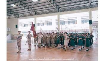กิจกรรมเดินสวนสนามของลูกเสือ-เนตรนารี-โรงเรียนดรุณากาญจนบุรี