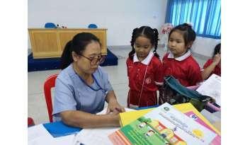 โรงเรียนดรุณากาญจนบุรี-รับบริการงานอนามัย