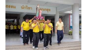 กิจกรรมฉลองวัดนักบุญอันนา-โรงเรียนดรุณากาญจนบุรี