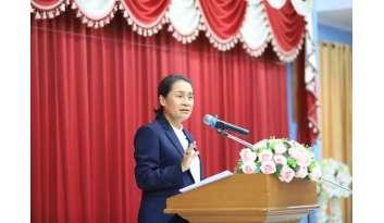 รัฐมนตรีช่วยว่าการกระทรวงศึกษาธิการตรวจราชการโรงเรียนดรุณากาญจนบุรี