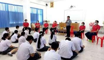 การอบรมนักเรียนชั้นมัธยมศึกษาปีที่-3ดรุณากาญจนบุรี