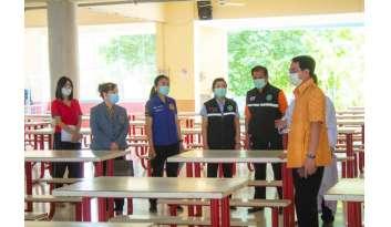 สาธารณสุขจังหวัดกาญจนบุรีตรวจความพร้อมของโรงเรียนดรุณากาญจนบุรี